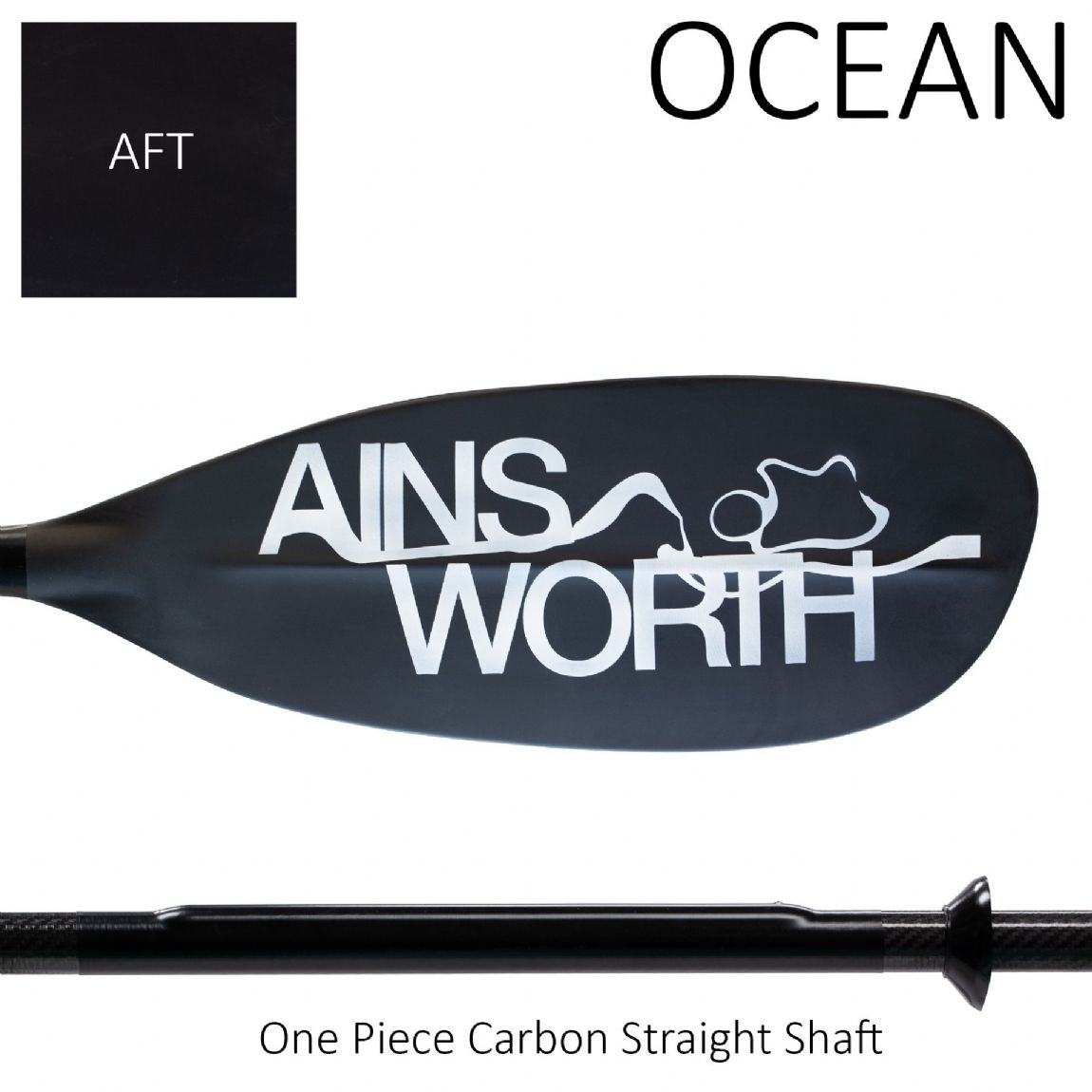 OCEAN (AFT) One Piece Carbon Straight Shaft